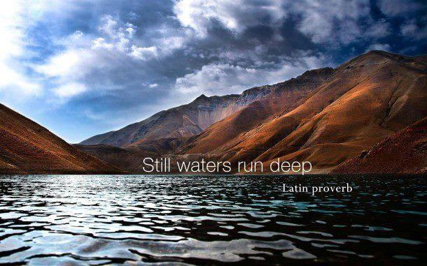 Stille wateren diepe gronden